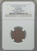 Civil War Merchants, 1863 Wm. Tell House, Cincinnati OH, XF40 NGC. Fuld-OH165GA-1a. ...