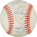 Baseball Collectibles:Balls, 1977 Los Angeles Dodgers Team Signed Baseball (31 Signatures) -National League Championship Season!...
