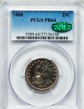 Proof Seated Quarters, 1888 25C PR64 PCGS. CAC....