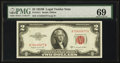Small Size:Legal Tender Notes, Fr. 1511 $2 1953B Legal Tender Note. PMG Gem Uncirculated 69.. ...