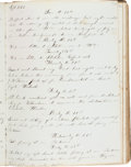 Autographs:Military Figures, [USS New Ironsides]. Arnold S. Sprague Naval Diary...