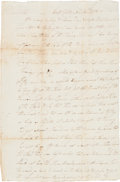 Autographs:Military Figures, [Revolutionary War]. John Fitch Autograph Letter Signed....