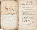 Miscellaneous:Ephemera, Army Regulations Adopted for the Use of the Army of theConfederate States Captured at the Fall of Richmond....