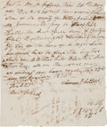 Autographs:Statesmen, [Slavery]. Virginia Promissory Note for a Negro Slave, 1825....