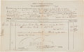 Autographs:Statesmen, Benjamin Lincoln Bill of Lading Signed as Collector of the Port ofBoston...
