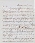 Autographs:Military Figures, [Slavery]. General Stephen M. Westmore Autograph Letter Signed...