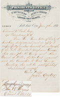 Autographs, John Taylor Letter Signed Transmitting a Brigham YoungSignature....