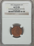 Civil War Merchants, 1863 Samuel Geitgey Stoves, Wooster, OH, MS63 Red and Brown NGC.Fuld-OH975F-4a....