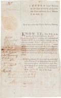 Autographs:Statesmen, Benjamin Lincoln Partly-printed Document Signed. ...