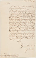 Autographs:Non-American, [French and Indian War]. Jeffrey Amherst Letter Signed...