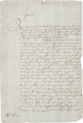 Autographs:Non-American, King James I Document Signed...