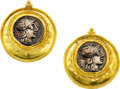 Estate Jewelry:Earrings, Ancient Coin, Gold Earrings, Maija Neimanis. ...