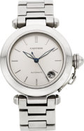 Estate Jewelry:Watches, Cartier Unisex Stainless Steel 'Pasha' Wristwatch. ...