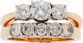 Estate Jewelry:Rings, Diamond, Platinum, Gold Ring Set. ...