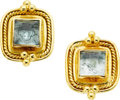 Estate Jewelry:Earrings, Aquamarine, Gold Earrings, Maija Neimanis. ...