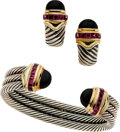Estate Jewelry:Suites, Black Onyx, Garnet, Gold, Silver Jewelry Suite, David Yurman. ...