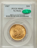Indian Eagles, 1907 $10 No Periods MS62 PCGS. CAC....