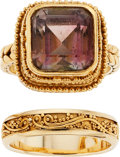 Estate Jewelry:Rings, Tourmaline, Gold Rings, Luna. ...