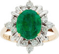 Estate Jewelry:Rings, Emerald, Diamond, Gold, White Gold Ring. ...