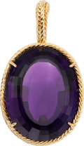 Estate Jewelry:Pendants and Lockets, Amethyst, Gold Pendant. ...