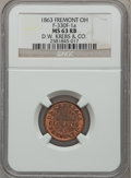 Civil War Merchants, 1863 D.W. Krebs & Co. Fremont OH, MS63 Red and Brown NGC.Fuld-OH330F-1a....