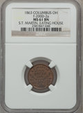Civil War Merchants, 1863 S.T. Martin Eating House, Columbus OH, MS61 Brown NGC.Fuld-OH200D-2a....
