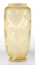 Art Glass:Other , AN ENGLISH CAMEO GLASS VASE. Circa 1900. 8-1/2 inches high (21.6cm). ...