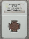 Civil War Merchants, 1863 W.K. Lanphear, Die Sinker MS63 Brown NGC.Fuld-OH165CY-104a....