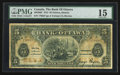 Canadian Currency: , Ottawa, ON- The Bank of Ottawa $5 Sep. 1, 1913 Ch. # 565-26-02. ...