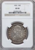 Bust Half Dollars: , 1832 50C Small Letters XF45 NGC. NGC Census: (190/1498). PCGSPopulation (270/1386). Mintage: 4,797,000. Numismedia Wsl. Pr...