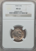 Buffalo Nickels: , 1920-S 5C MS62 NGC. NGC Census: (65/311). PCGS Population (44/376).Mintage: 9,689,000. Numismedia Wsl. Price for problem f...