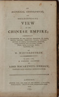 Books:World History, W. Winterbotham. An Historical, Geographical, and Philosophical View of the Chinese Empire. Ridgway and Button, 1795...