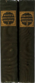 Books:Science & Technology, Thomas Brown. The Zoologist's Text-Book. Vol. I & II. Fullarton, 1832-1833. First edition. Publisher's cloth wit... (Total: 2 Items)