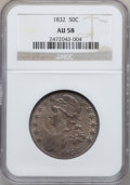 Bust Half Dollars: , 1832 50C Small Letters AU58 NGC. NGC Census: (446/485). PCGSPopulation (292/345). Mintage: 4,797,000. Numismedia Wsl. Pric...