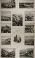 Books:Prints & Leaves, Lot of 12 Steel Engravings Featuring Scenes of Palestine, Sinai,Egypt Ca. 1881. From Picturesque Palestine, Sinai and Egy...