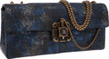 Luxury Accessories:Bags, Chanel Blue & Silver Crocodile Paris-Byzance Runway CollectionGripoix East West Flap Bag. ...