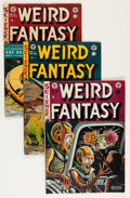 Golden Age (1938-1955):Science Fiction, Weird Fantasy #16-18 Group (EC, 1952-53) Condition: Average VG....(Total: 3 Comic Books)