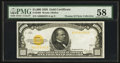 Small Size:Gold Certificates, Fr. 2408 $1000 1928 Gold Certificate. PMG Choice About Uncirculated 58.. ...