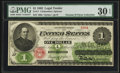 Large Size:Legal Tender Notes, Fr. 17 $1 1862 Legal Tender PMG Very Fine 30 EPQ.. ...