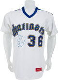 Baseball Collectibles:Uniforms, 1982 Gaylord Perry Game Worn Seattle Mariners Jersey....