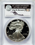 Modern Bullion Coins, 2001-W $1 Silver Eagle PR70 Deep Cameo PCGS. Ex: Signature of JohnM. Mercanti, 12th Chief Engraver of the U.S. Mint. P...