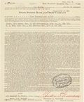 Autographs:Others, 1965 Ted Williams Signed Bank Document, PSA/DNA NM-MT 8....