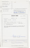 """Autographs:Others, 1981 Ted Williams Dual-Signed """"Grant Deed"""" Document...."""