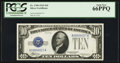 Small Size:Silver Certificates, Fr. 1700 $10 1933 Silver Certificate. PCGS Gem New 66PPQ.. ...