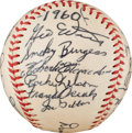 Baseball Collectibles:Balls, 1960 Pittsburgh Pirates Team Signed Baseball One of Finest Known. ...