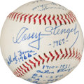 Baseball Collectibles:Balls, 1969 Casey Stengel Single Signed Baseball. ...