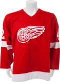 Hockey Collectibles:Uniforms, 1989-90 Bernie Federko Game Worn Detroit Red Wings Jersey....
