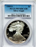 Modern Bullion Coins: , 1989-S $1 Silver Eagle PR70 Deep Cameo PCGS. PCGS Population (691).NGC Census: (828). Mintage: 617,694. Numismedia Wsl. Pr...
