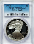 Modern Bullion Coins: , 1991-S $1 Silver Eagle PR70 Deep Cameo PCGS. PCGS Population (445).NGC Census: (514). Mintage: 511,925. Numismedia Wsl. Pr...