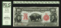 Large Size:Legal Tender Notes, Fr. 114 $10 1901 Serial Number 1 Legal Tender PCGS Very Fine30PPQ.. ...